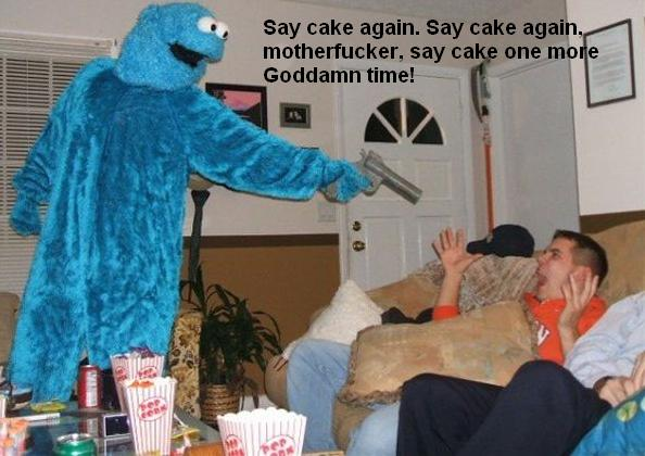 Cookie Monster is pissed