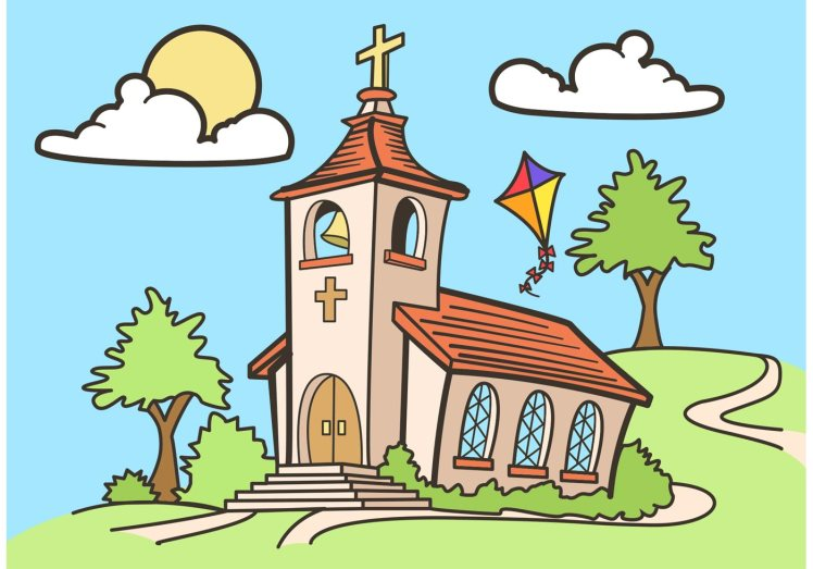 country-church-vector-drawing-free